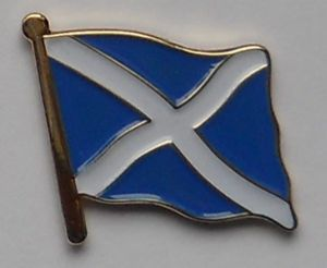 Scotland (St Andrew) Country Flag Enamel Pin Badge